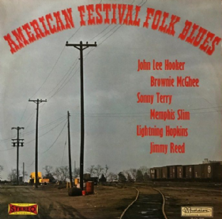 V/A - American Festival Folk Blues (LP) (VG-/G)